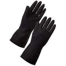Black Rubber Gloves