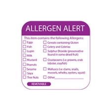 5cm² Multi Allergen Label 500 removable