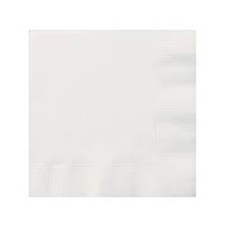 White Lunch & Dinner Napkins